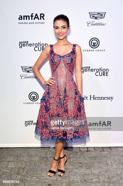 Victoria Justice attends the amfAR generationCURE Solstice 2017 at Mr Purple on June 20 2017 in New York City