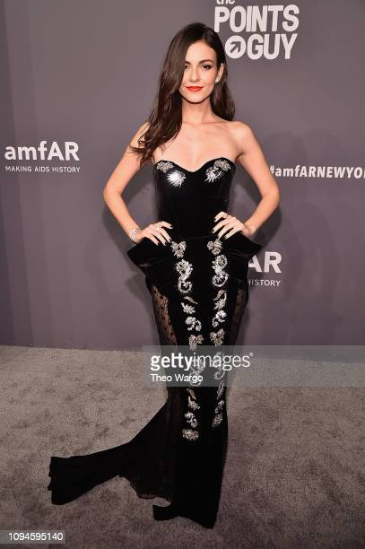 Victoria Justice attends the amfAR New York Gala 2019 at Cipriani Wall Street on February 6 2019 in New York City