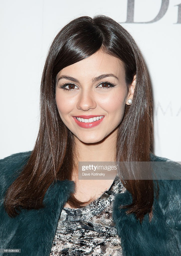 Victoria Justice attends The Cinema Society And Dior Beauty Presents A Screening Of 'Beautiful Creatures' at Tribeca Cinemas on February 11, 2013 in New York City.
