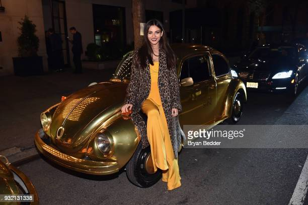 Victoria Justice attends the PANDORA Jewelry Shine Collection Launch with Ciara on March 14 2018 in New York City