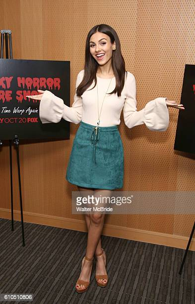 Victoria Justice attends the The Rocky Horror Picture Show Let's do the Time Warp Again Press Junket at Fox on September 26 2016 in New York City