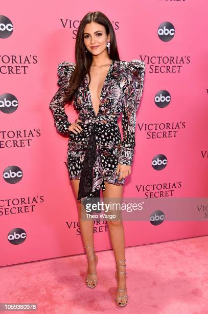 Victoria Justice attends the Victoria's Secret Fashion Show at Pier 94 on November 8 2018 in New York City