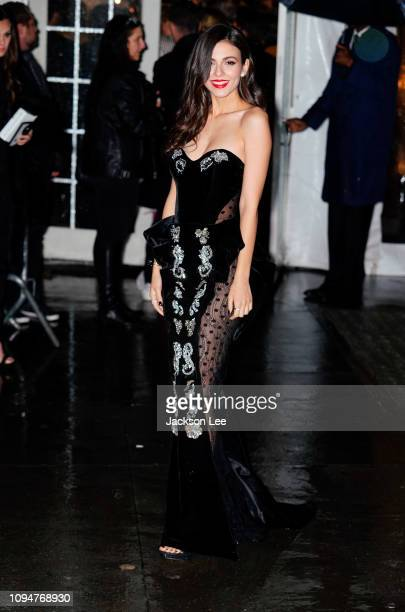 Victoria Justice is seen at amFAR gala on February 6 2019 in New York City