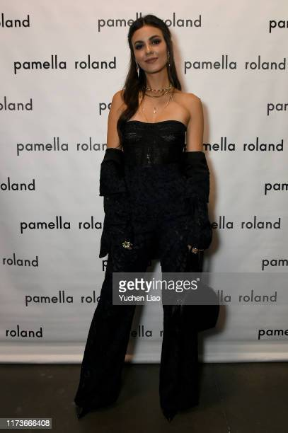 Victoria Justice is seen backstage for Pamella Roland during New York Fashion Week The Shows on September 10 2019 in New York City