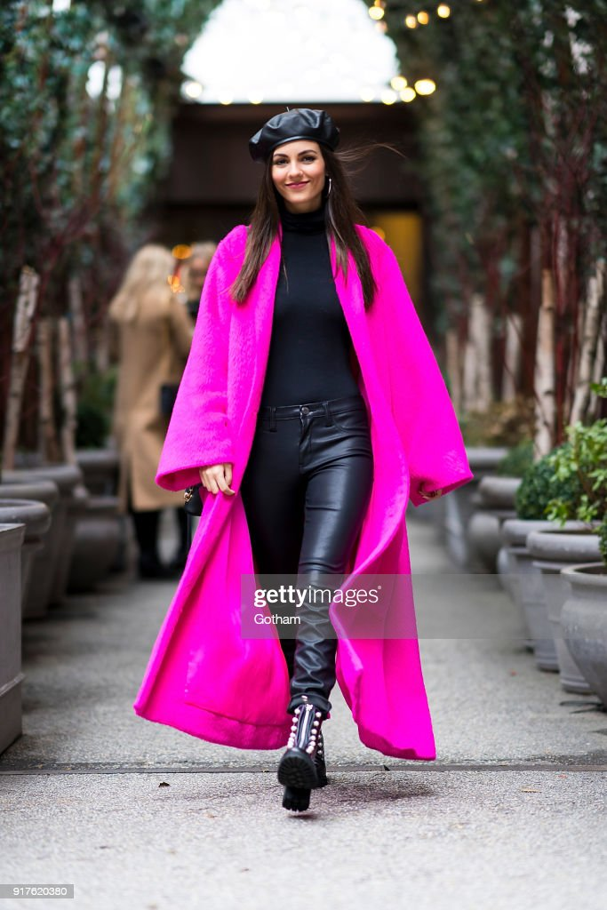 Victoria Justice is seen in Tribeca on February 12, 2018 in New York City.