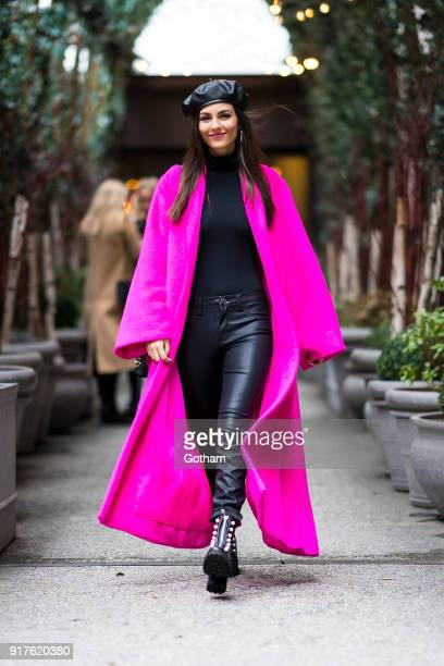 Victoria Justice is seen in Tribeca on February 12 2018 in New York City