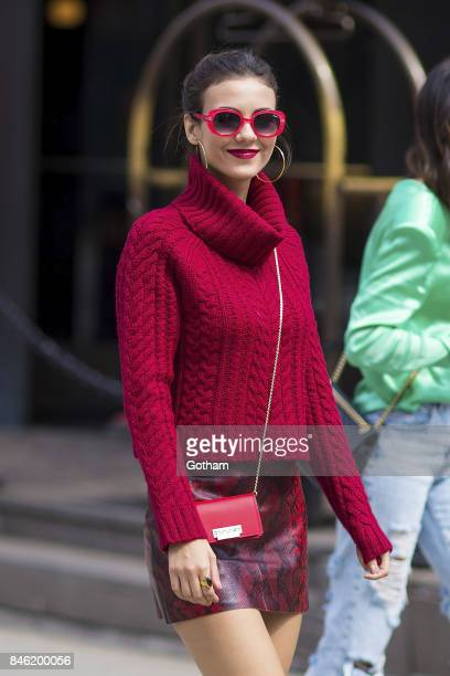 Victoria Justice is seen in Tribeca on September 12 2017 in New York City