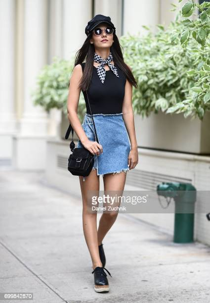 Victoria Justice is seen on the streets of Tribeca on June 21 2017 in New York City