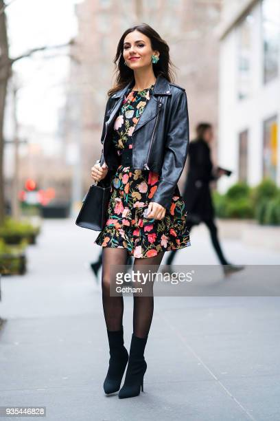 Victoria Justice is seen wearing Kate Spade in Gramercy Park on March 20 2018 in New York City
