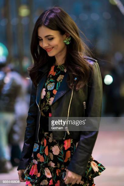 Victoria Justice is seen wearing Kate Spade in Midtown on March 20 2018 in New York City