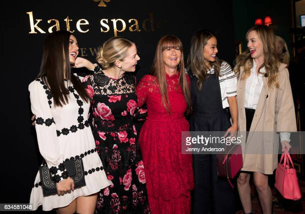 Victoria Justice Jennifer Morrison Deborah Lloyd Jamie Chung and Leighton Meester attend Kate Spade presentation during New York Fashion Week on...