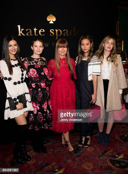 Victoria Justice Jennifer Morrison Deborah Lloyd Jamie Chung and Leighton Meester attend Kate Spade presentation during New York Fashion Week on...
