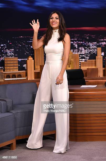 Victoria Justice Visits 'The Tonight Show Starring Jimmy Fallon' at Rockefeller Center on August 31 2015 in New York City