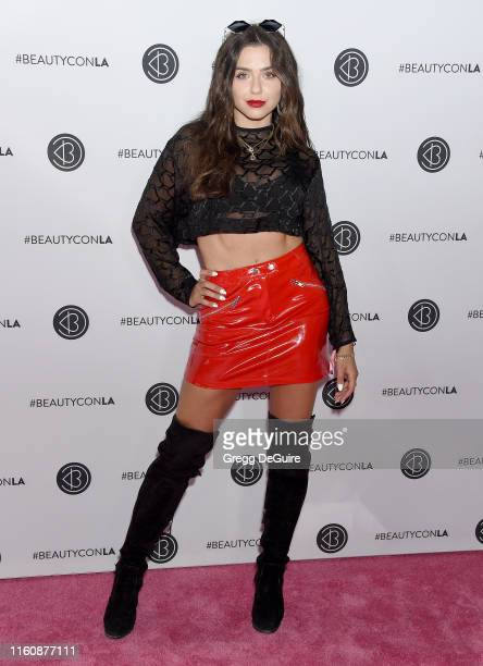 Victoria Konefal attends Beautycon Los Angeles 2019 Pink Carpet at Los Angeles Convention Center on August 10 2019 in Los Angeles California