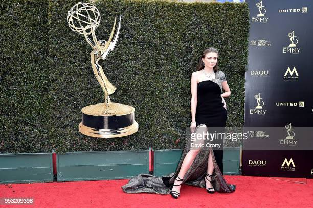 Victoria Konefal attends the 2018 Daytime Emmy Awards Arrivals at Pasadena Convention Center on April 29 2018 in Pasadena California