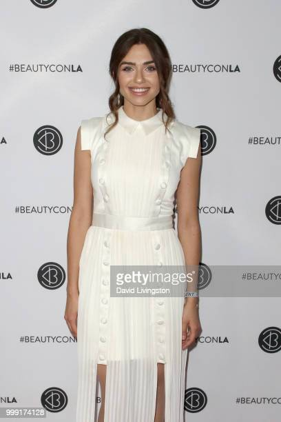 Victoria Konefal attends the Beautycon Festival LA 2018 at the Los Angeles Convention Center on July 14 2018 in Los Angeles California