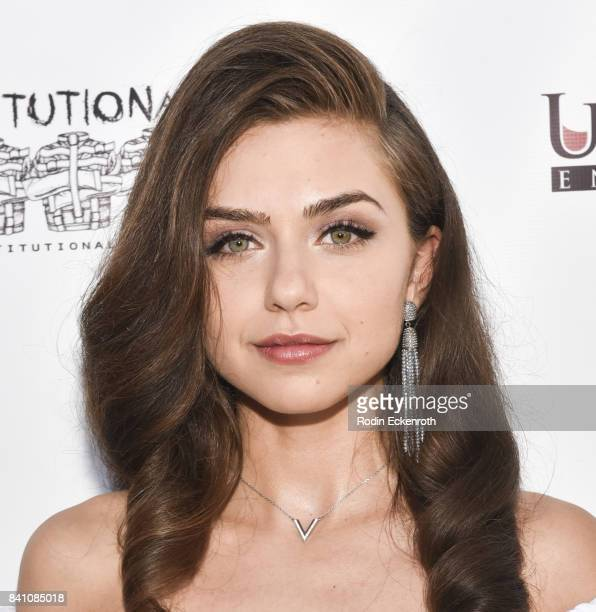 Victoria Konefal attends the premiere of Uncork'd Entertainment's Circus Kane at Laemmle's Ahrya Fine Arts Theatre on August 30 2017 in Beverly Hills...