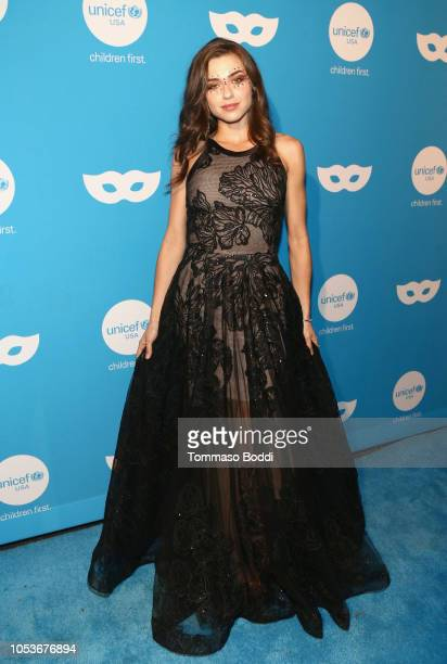 Victoria Konefal attends the Sixth Annual UNICEF Masquerade Ball at Clifton's Republic on October 25 2018 in Los Angeles California