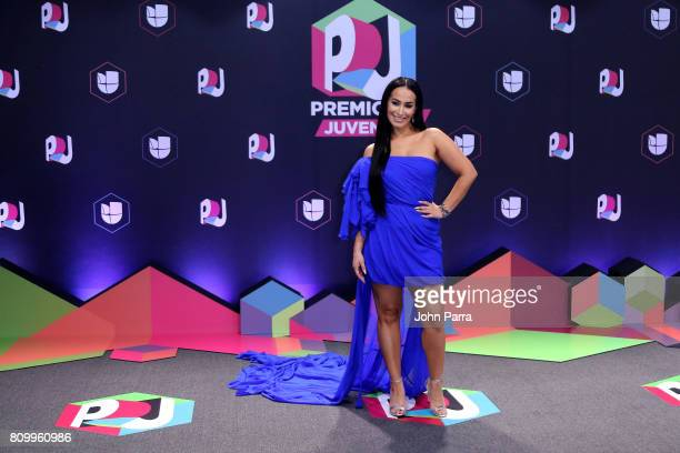 Victoria La Mala attends the Univision's 'Premios Juventud' 2017 Celebrates The Hottest Musical Artists And Young Latinos ChangeMakers at Watsco...