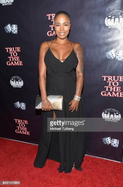 Victoria Lamore attends the premiere of Imani Motion Pictures' 'True To The Game' at Directors Guild Of America on September 5 2017 in Los Angeles...