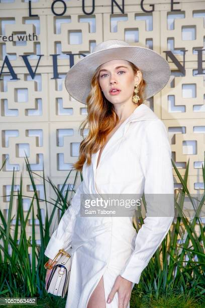 Victoria Lee attends 2018 Caulfield Cup Day at Caulfield Racecourse on October 20 2018 in Melbourne Australia