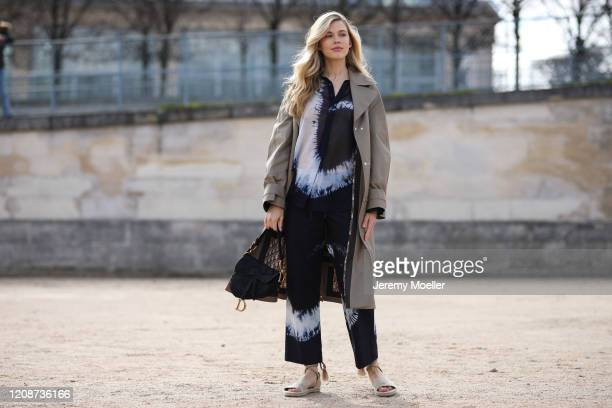 Victoria Lee is seen wearing a complete Dior look outside Dior during Paris Fashion Week Womenswear Fall/Winter 2020/2021 Day Two on February 25 2020...