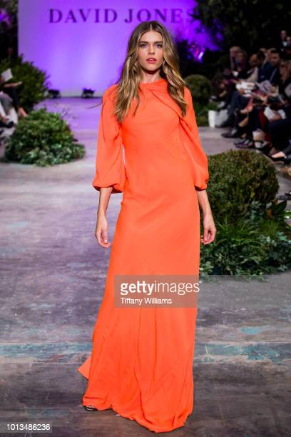 Victoria Lee showcases designs by Bianca Spender designs during the David Jones Spring Summer 18 Collections Launch at Fox Studios on August 8 2018...