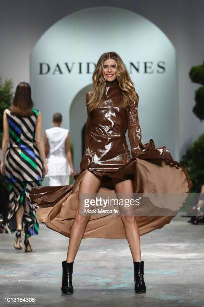 Victoria Lee showcases designs by Ellery during the David Jones Spring Summer 18 Collections Launch at Fox Studios on August 8 2018 in Sydney...