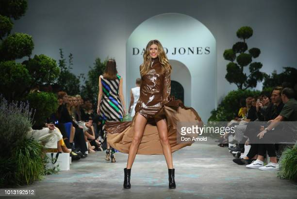 Victoria Lee showcases designs during the David Jones Spring Summer 18 Collections Launch at Fox Studios on August 8 2018 in Sydney Australia
