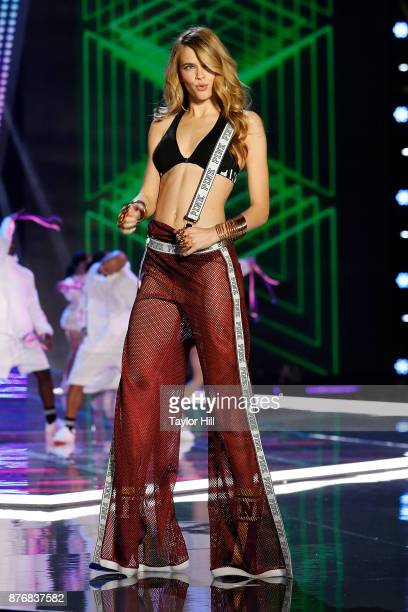 Victoria Lee walks the runway at the 2017 Victoria's Secret Fashion Show at MercedesBenz Arena on November 20 2017 in Shanghai China