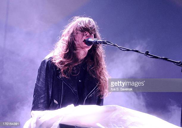 Victoria Legrand of Beach House performs during 2013 Governors Ball Music Festival at Randall's Island on June 7 2013 in New York City