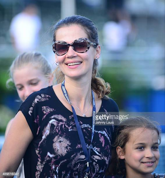 Victoria Lemigova Julia Lemigova and Emma Lemigova participate in the 25th Annual Chris Evert/Raymond James ProCelebrity Tennis Classic at Delray...