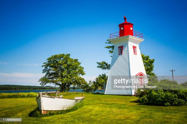 victoria lighthouse - prince edward island canada - victoria canada stock pictures, royalty-free photos & images