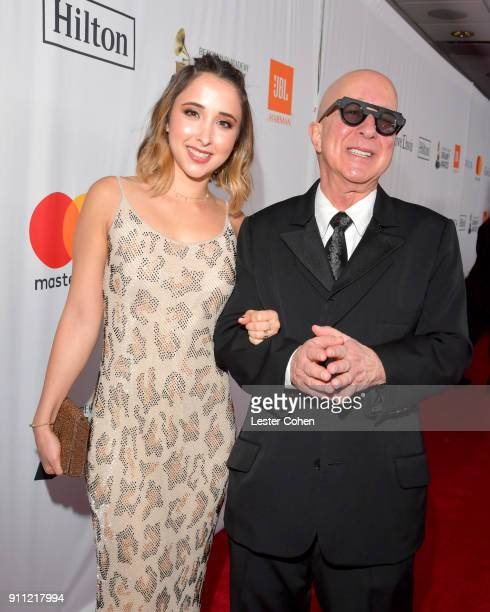 Victoria Lily Shaffer and recording artist Paul Shaffer attend the Clive Davis and Recording Academy PreGRAMMY Gala and GRAMMY Salute to Industry...