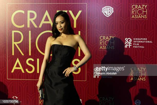 Victoria Loke attends the Singapore premiere of 'Crazy Rich Asians' on August 21 2018 in Singapore