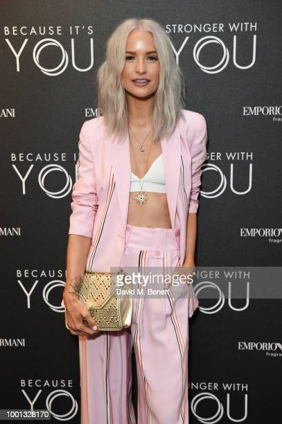 Victoria Magrath attends the Emporio Armani Fragrance 'Stronger With You' party at Roast on July 18 2018 in London England