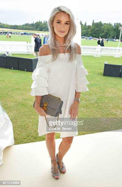 Victoria Magrath attends the JaegerLeCoultre Gold Cup Polo Final at Cowdray Park on July 23 2017 in Midhurst England