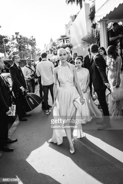 Victoria Magrath departs the Martinez Hotel on May 24, 2017 in Cannes, France.