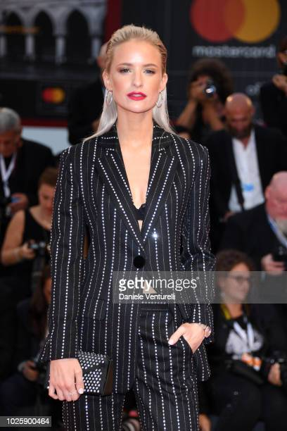 Victoria Magrath walks the red carpet ahead of the 'Suspiria' screening during the 75th Venice Film Festival at Sala Grande on September 1 2018 in...