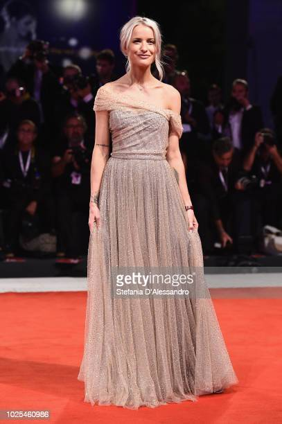 Victoria Magrath walks the red carpet ahead of the 'The Favourite' screening during the 75th Venice Film Festival at Sala Grande on August 30 2018 in...