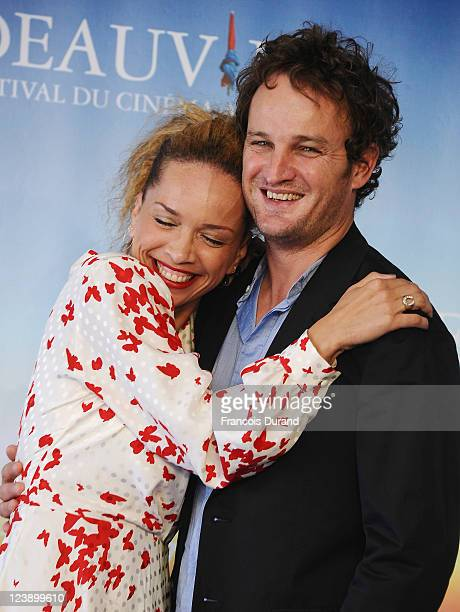 Victoria Mahoney and Jason Clarke pose during the 'Yelling To The Sky' Photocall during the 37th Deauville Film Festival on September 5 2011 in...