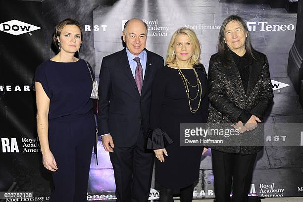 Victoria Major Gore Rick Friedberg Francine LeFrak and Jenny Holzer attend Royal Academy America Gala Honoring Norman Foster and Jenny Holzer at...