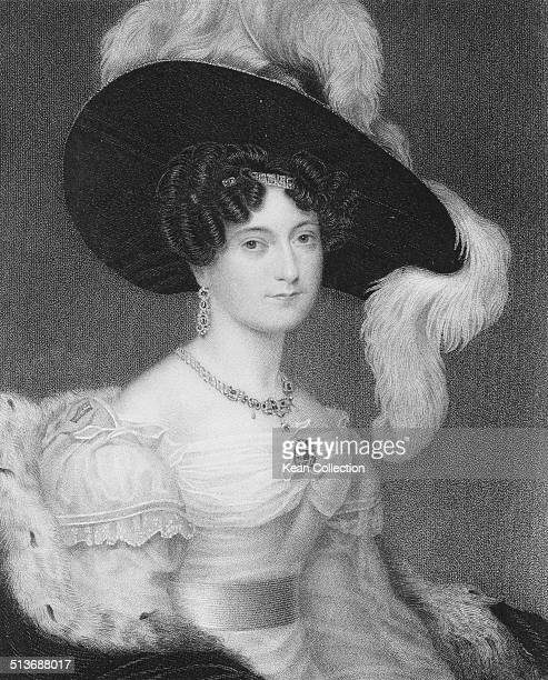 Victoria Maria Louise Duchess of Kent circa 1816 From an original engraving by J Cochran after a painting by H Collen