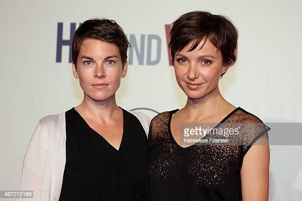 Victoria Mayer and Julia Koschitz attend the premiere of the film 'Hin und weg' at Kinopolis MainTaunus on October 14 2014 in Sulzbach Germany