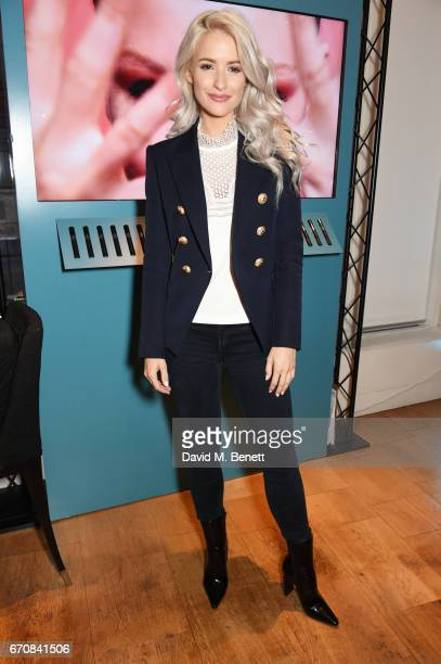 Victoria McGrath attends the launch of the Dior Pump 'N' Volume Mascara with Dior spokesmodel Bella Hadid at Selfridges on April 20 2017 in London...