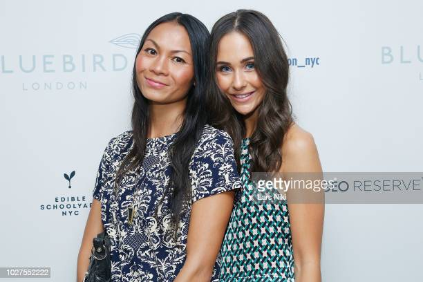 Victoria McLaughlin and Bria attend the Bluebird London New York City launch party at Bluebird London on September 5 2018 in New York City