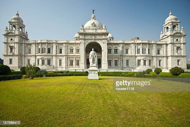 victoria memorial in calcutta, india - british culture stock pictures, royalty-free photos & images