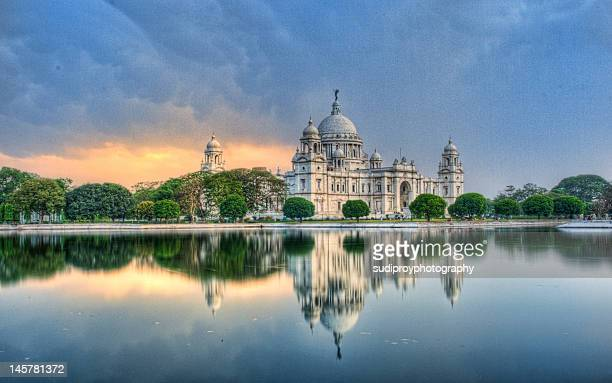 victoria memorial in kolkata - west bengal stock pictures, royalty-free photos & images
