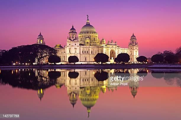 victoria memorial, kolkata, india - kolkata stock pictures, royalty-free photos & images