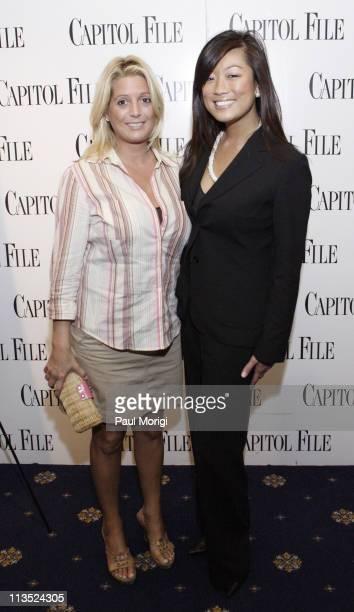 "Victoria Michael and Pamela Sorensen during Capitol File Magazine and Arianna Huffington Host ""The U.S. Vs. John Lennon"" Premiere at National Press..."